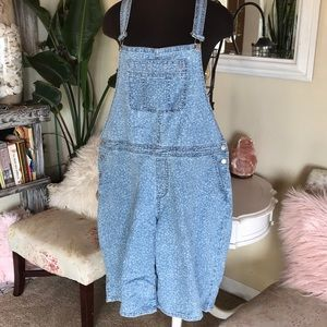 Jean Overall Shorts